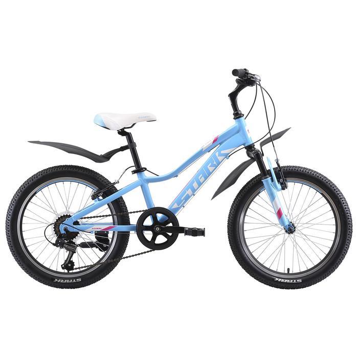 """Велосипед 20"""" Stark Bliss 1 V, 2020, цвет голубой/розовый/белый"""
