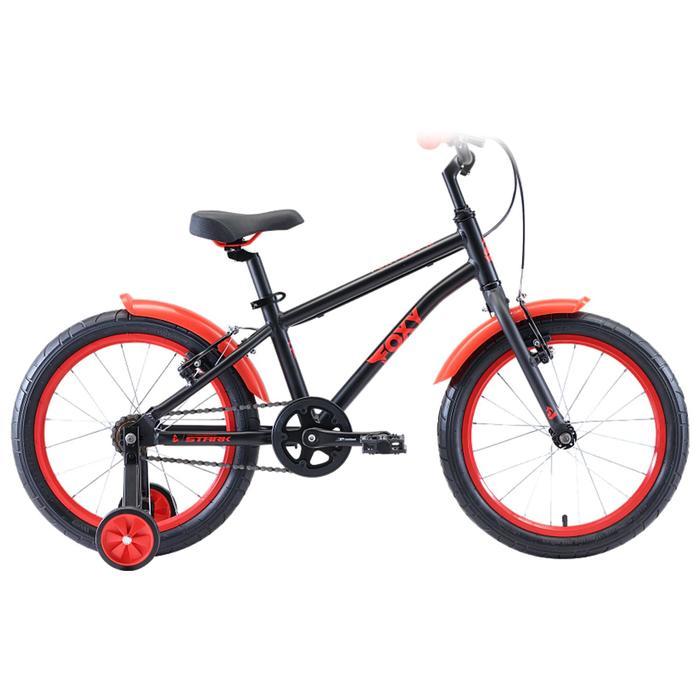 """Велосипед 18"""" Stark Foxy Boy, 2020, цвет чёрный/красный"""