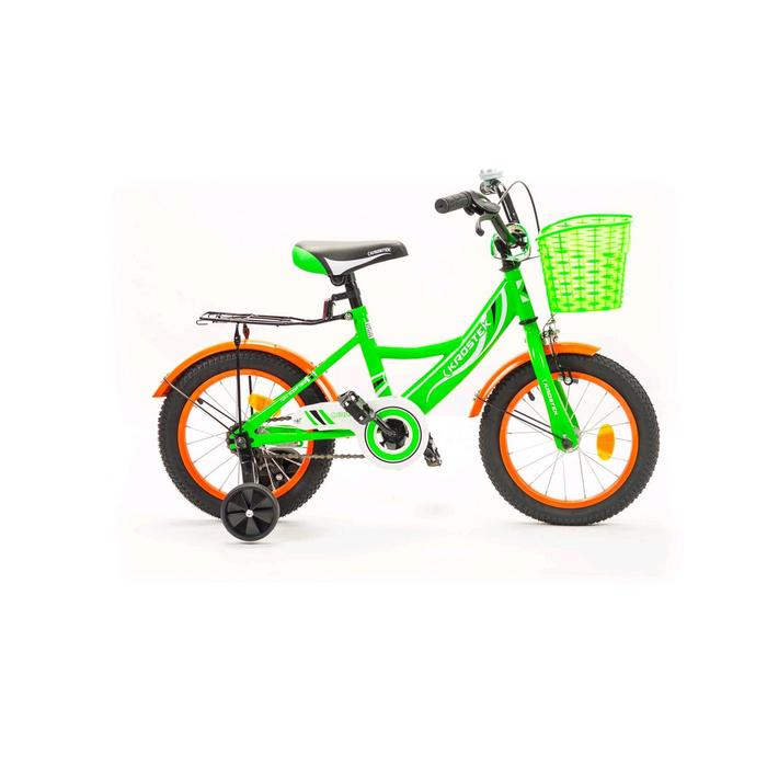 "Велосипед 14"" KROSTEK WAKE, цвет зеленый"