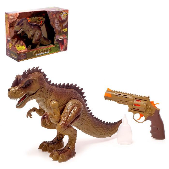 Динозавр «Тираннозавр», трансформация, пистолет, эффект дыма, свет и звук, цвет в ассортименте
