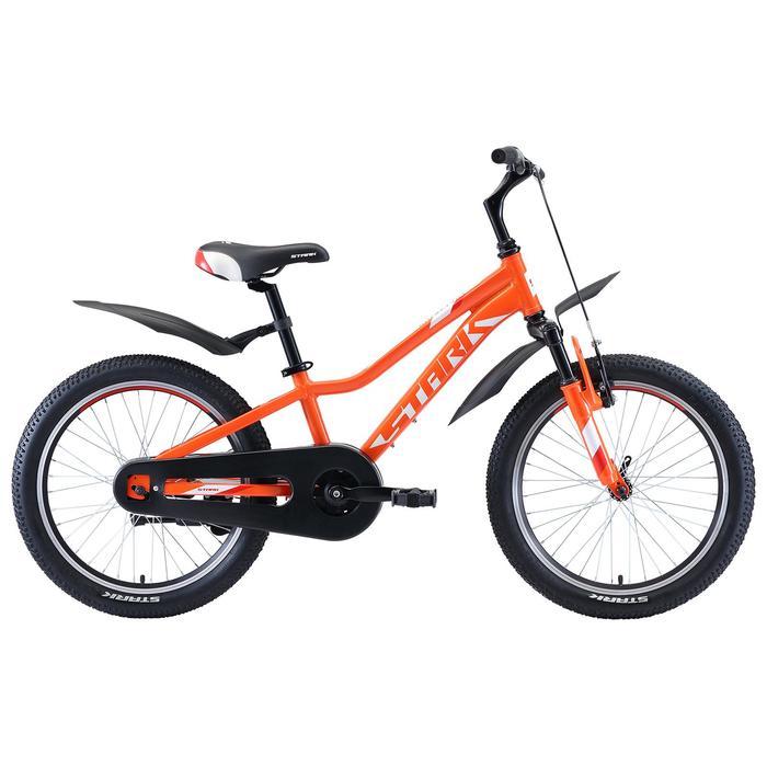 """Велосипед 20"""" Stark Rocket 1 S, 2020, цвет оранжевый/белый/красный"""