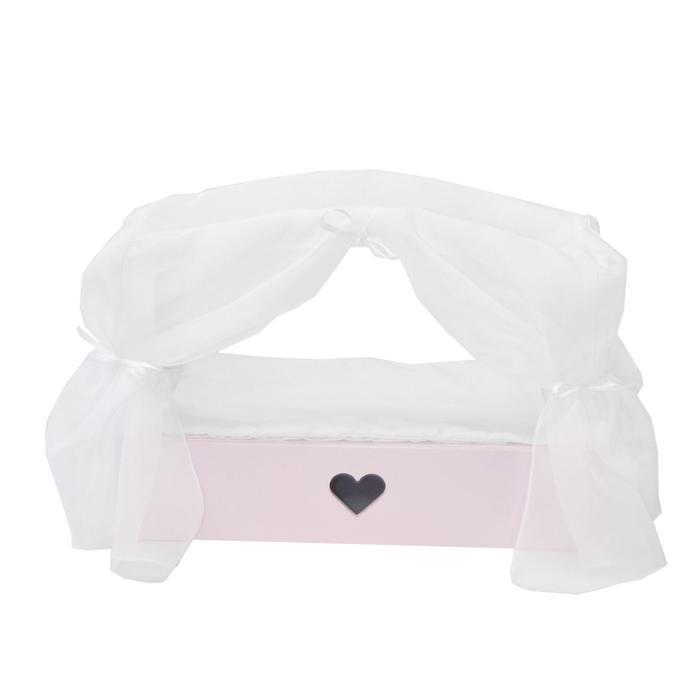 Кроватка с бельевым ящиком серии «Любимая кукла» мини, цвет Элис/Мия