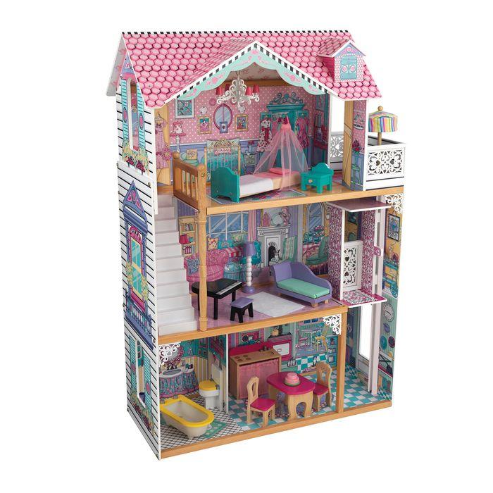 Трёхэтажный дом для кукол Барби «Аннабель», 17 элементов мебели