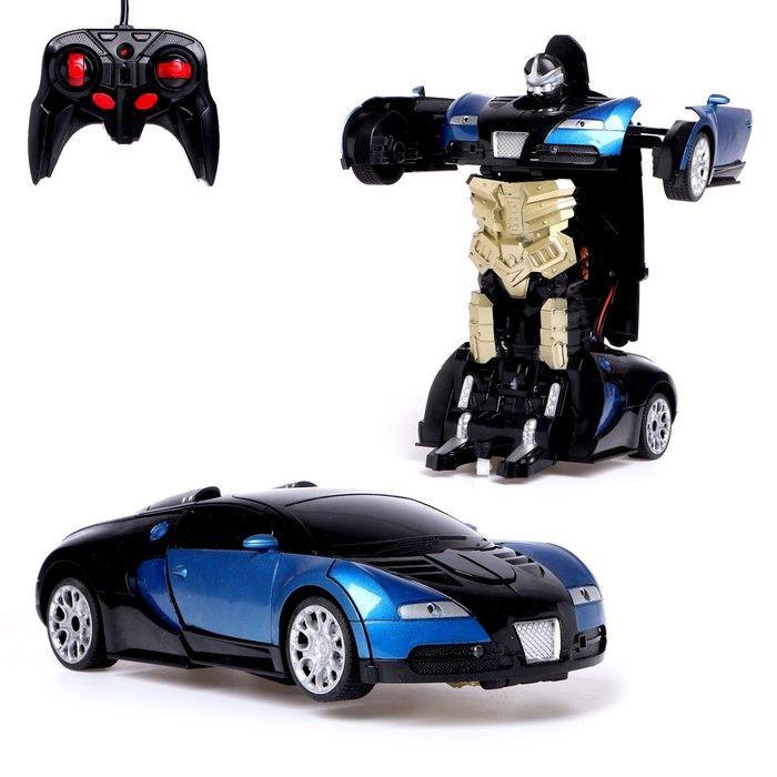 Робот-трансформер радиоуправляемый «Автобот», работает от аккумулятора, заряд от USB, цвета в ассортименте