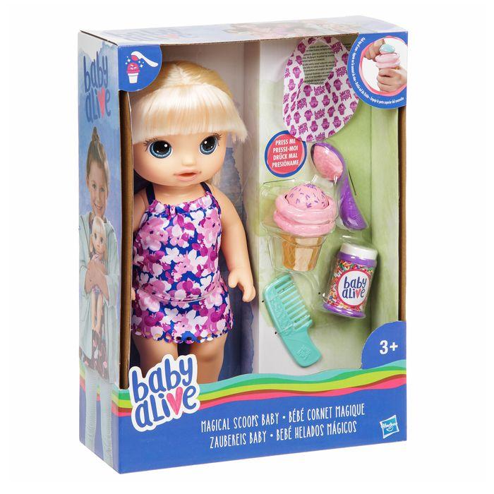 Кукла «Малышка» с мороженым, Baby alive