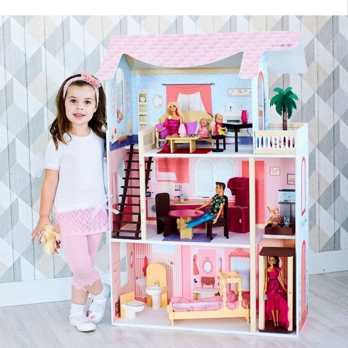 Кукольный домик «Эмилия-Романья», с мебелью