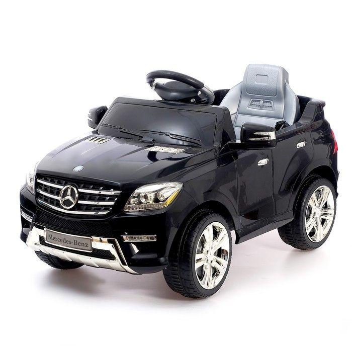 Электромобиль MERCEDES-BENZ ML 350, с радиоуправлением, световые и звуковые эффекты, цвет чёрный