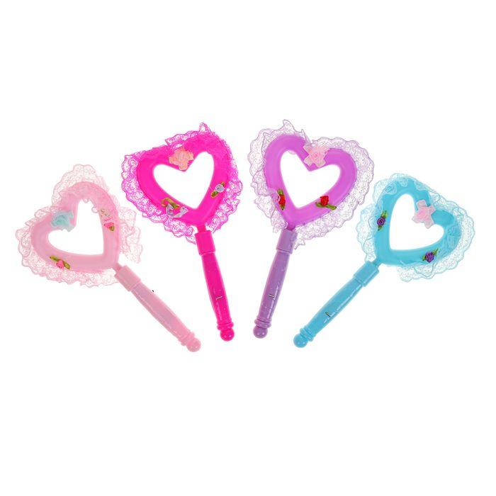Палочка световая «Сердечко», цвета в ассортименте