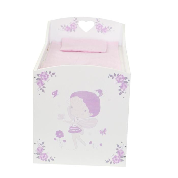 Кроватка-шкаф для кукол серия «Розали», цвет Пастель