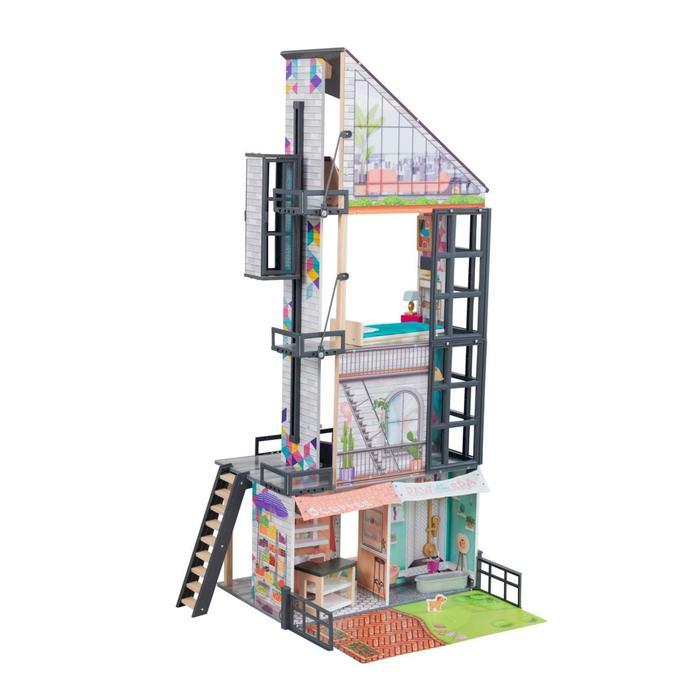 Кукольный дом «Бьянка», с мебелью 26 элементов, интерактивный