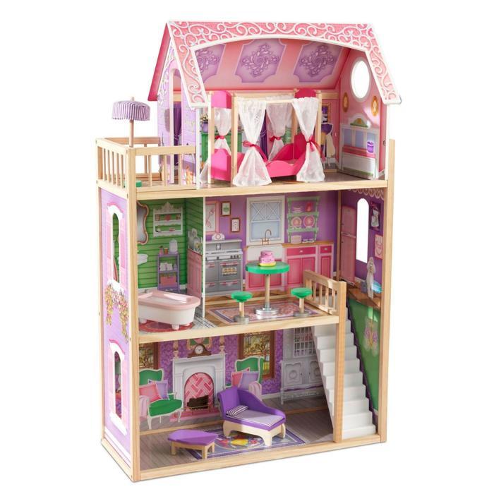 Кукольный домик «Ава», с мебелью 10 элементов