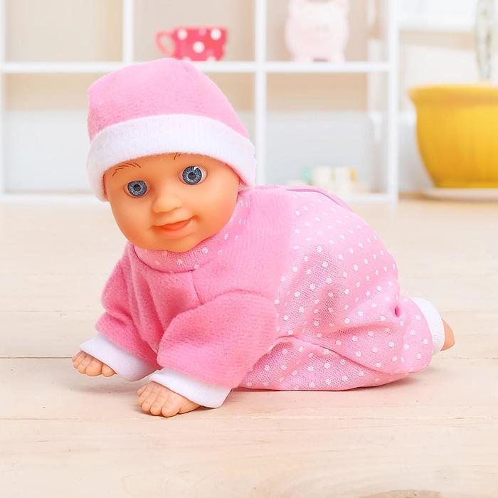 Пупс интерактивный «Малыш» ползает, в ассортименте
