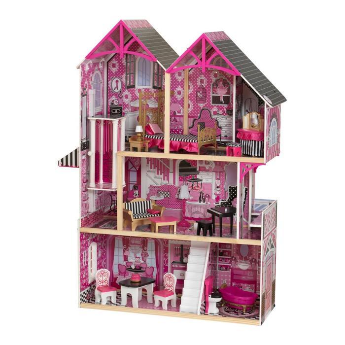 Кукольный домик «Бэлла» с мебелью 16 элементов интерактивный