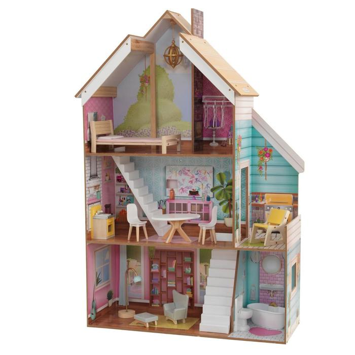 Кукольный домик «Джульетта», с мебелью 12 элементов