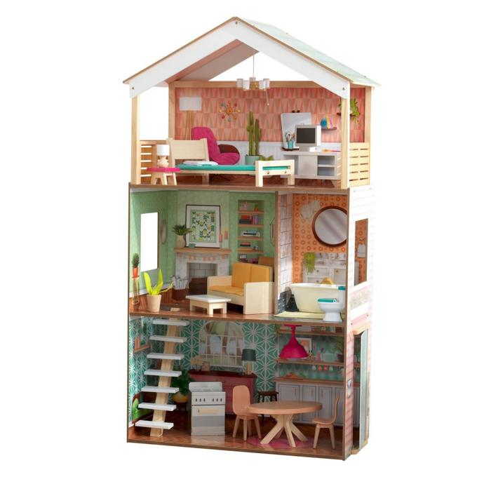 Кукольный домик «Дотти», с мебелью 17 элементов, интерактивный