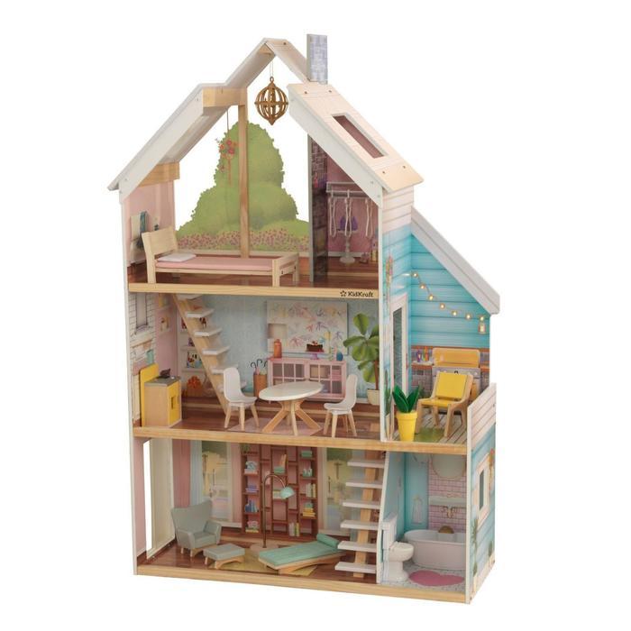 Кукольный домик «Зоя», с мебелью 13 элементов, интерактивный