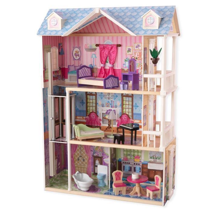 Кукольный домик «Мечта», с мебелью 14 элементов, интерактивный