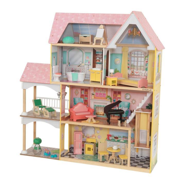Кукольный домик «Особняк Лола», с мебелью 30 элементов, интерактивный