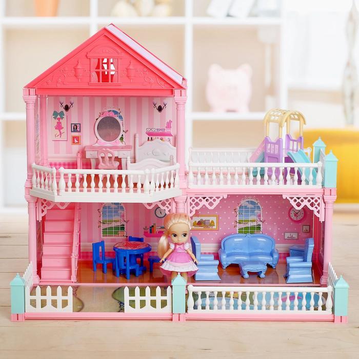 Дом для кукол с аксессуарами, в ассортименте