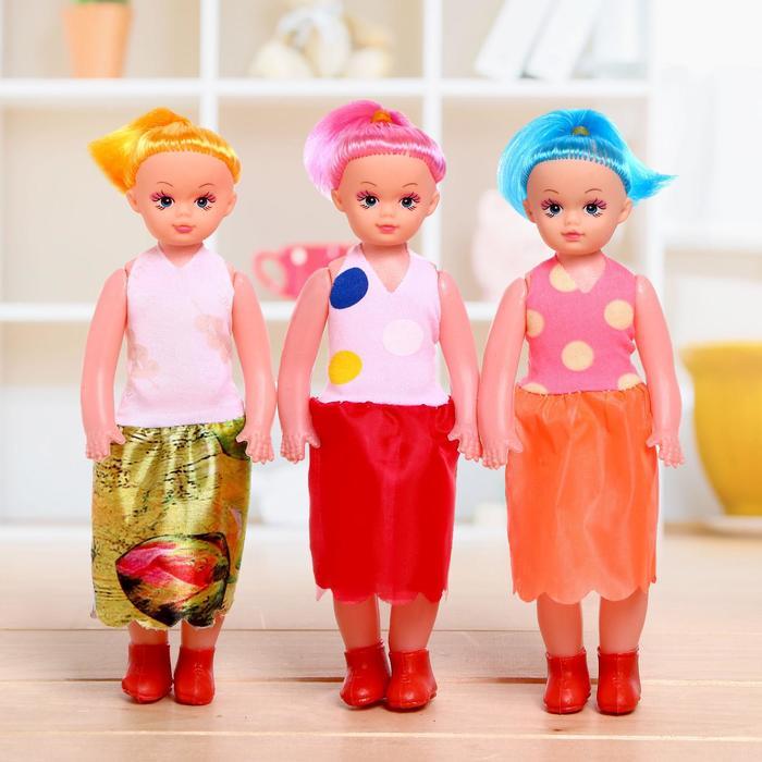 Куклы модные «Алена» 3шт., в платье, в ассортименте