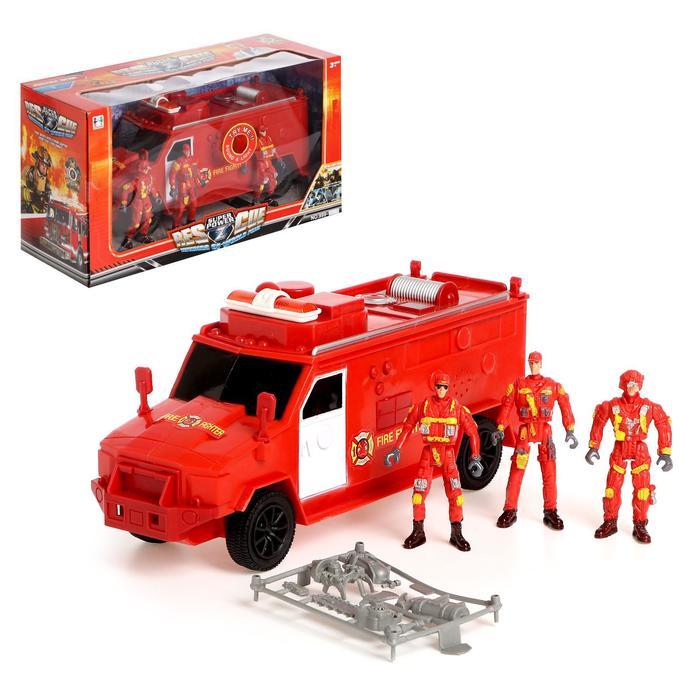 Машина «Пожарная служба» с фигурками людей, световые и звуковые эффекты