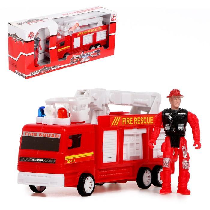 Машина «Пожарная служба» с фигуркой человека, световые и звуковые эффекты