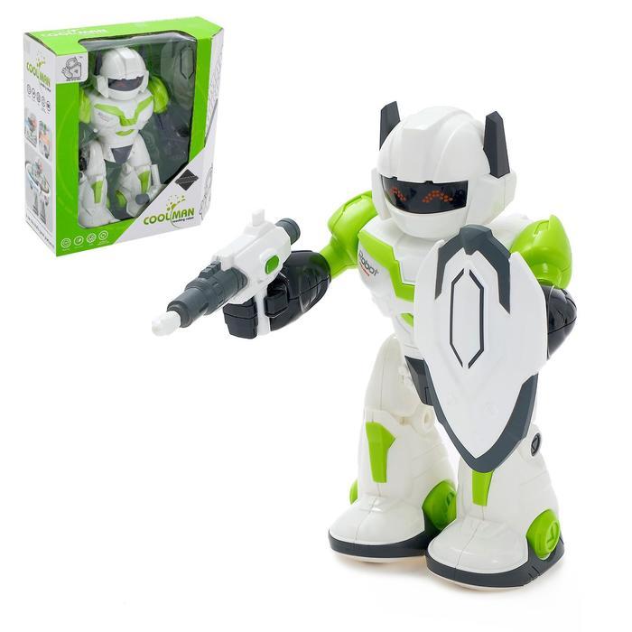 Робот «Герой», световые и звуковые эффекты, работает от батареек