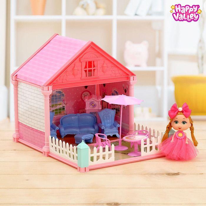 Дом для кукол «Сказочный домик» гостиная, с куклой, в ассортименте
