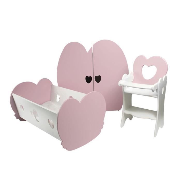 Набор кукольной мебели «Мини», 3 предмета
