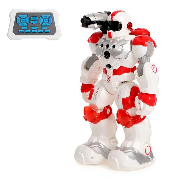 Робот радиоуправляемый, интерактивный «Пожарный», световые и звуковые эффекты, стреляет