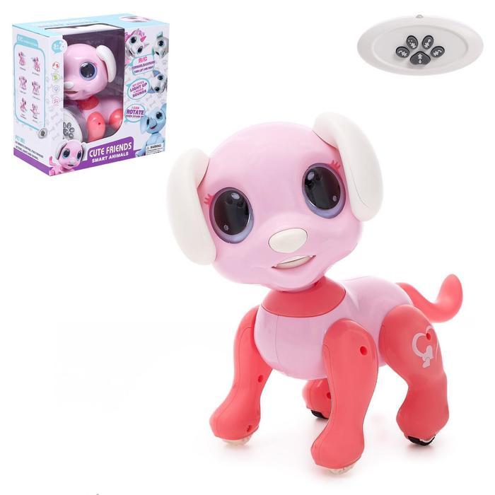 Робот-питомец радиоуправляемый «Собака», световые и звуковые эффекты, цвет розовый