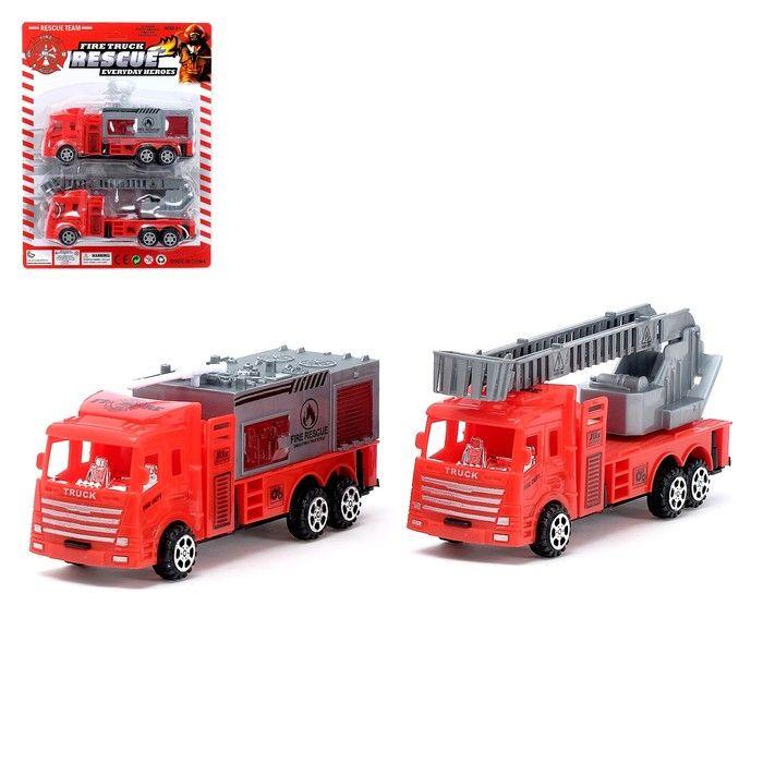 Машина инерционная «Пожарная охрана» (набор 2 шт), в ассортименте