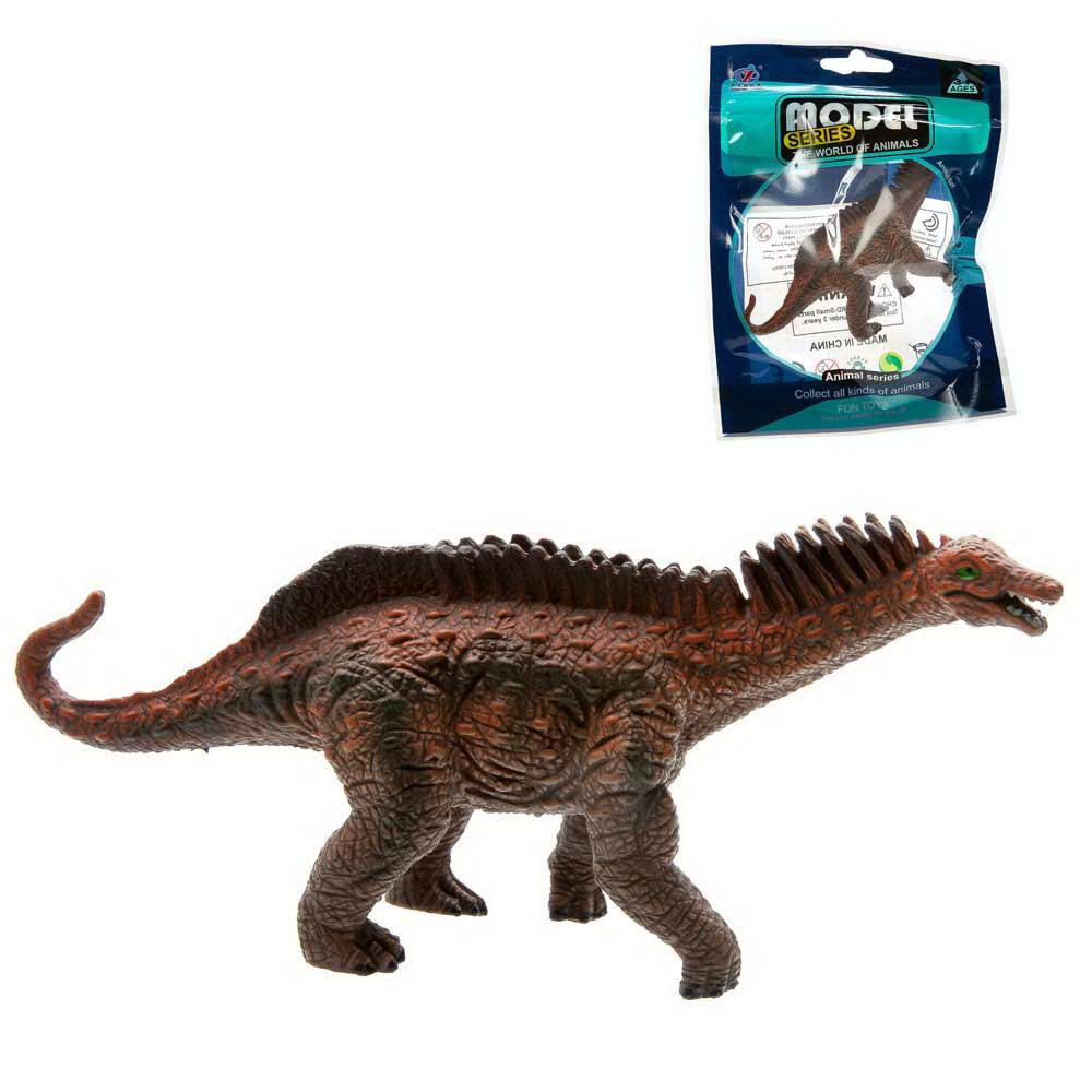 """Фигурка мини-животного """"Динозаврик"""", цвет коричневый, в пакетике"""