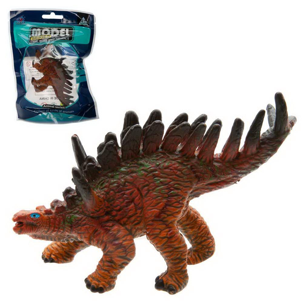 """Фигурка мини-животного """"Динозавр"""", с шипами, цвет коричневый, в пакетике"""