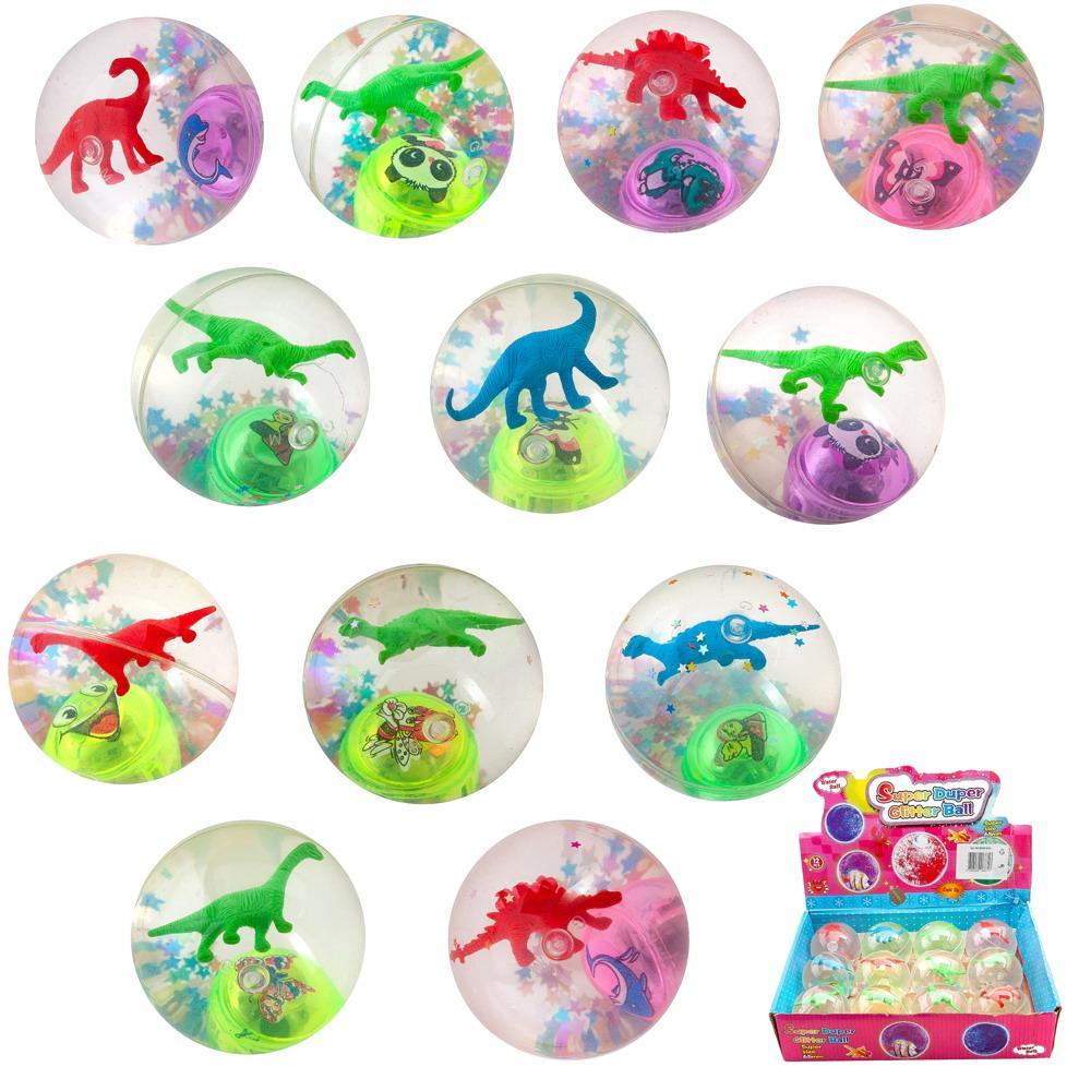 """Мячик """"Динозаврик"""", световые эффекты, размер 6,5 см, в дисплее 12 штук"""