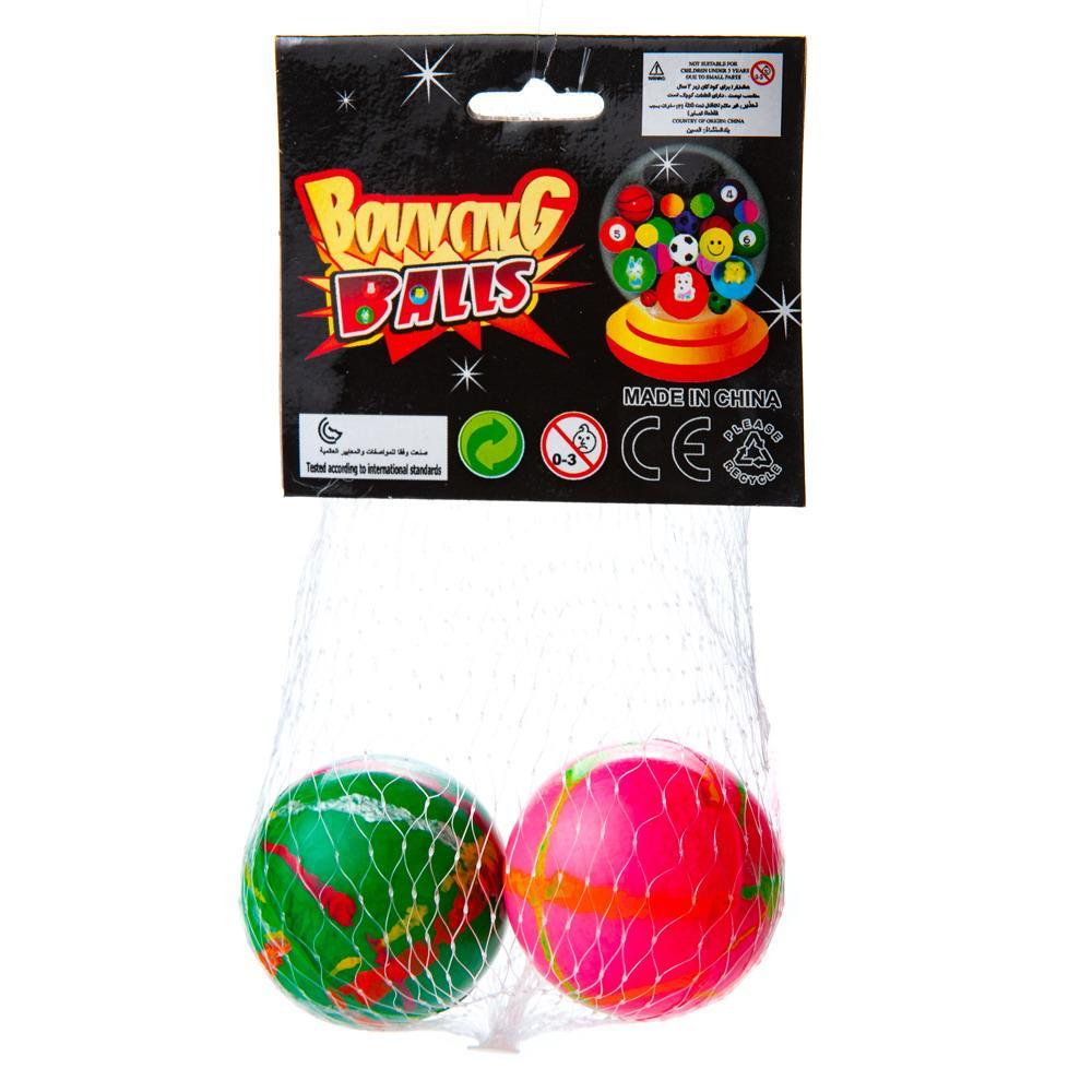 """Мячик-попрыгунчик """"Полосатый"""", в наборе 2 штуки, размер 4см, цвета в ассортименте"""