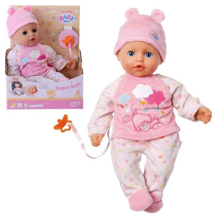 Кукла Little Baby born с соской, 32 см