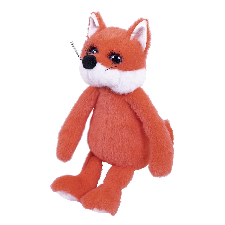 """Мягкая игрушка Лисичка рыжая """"Реснички"""", 20 см"""