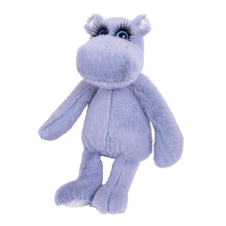 """Мягкая игрушка Бегемотик """"Реснички"""", серо-голубой, 20 см"""