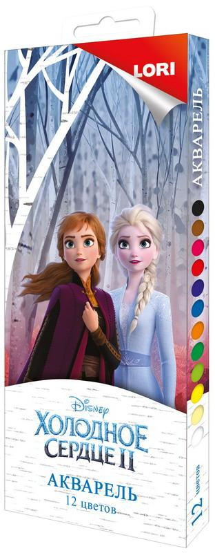 """Акварельные краски Disney """"Холодное сердце-2"""", 12 цветов"""