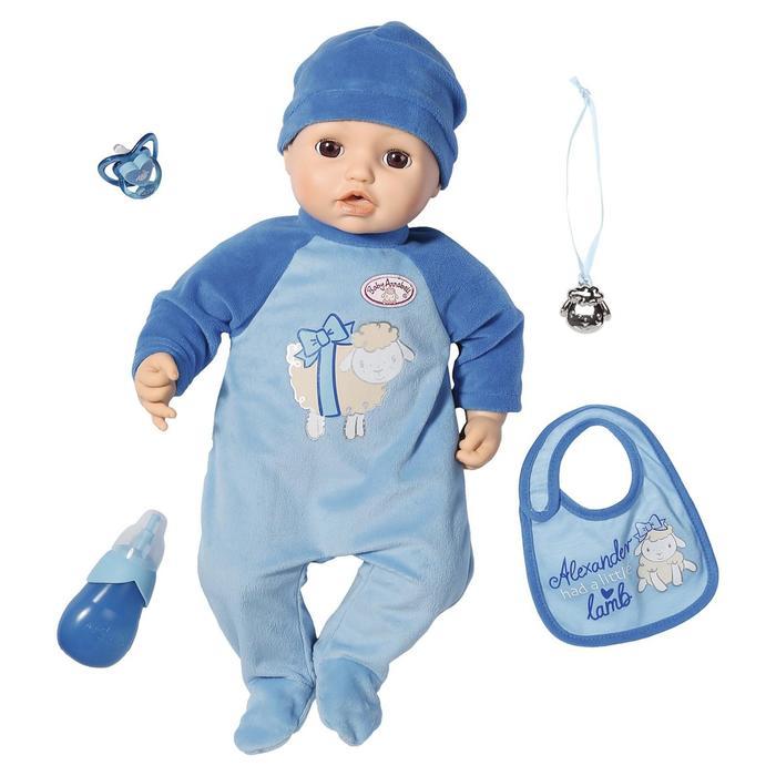 Кукла-мальчик Baby Annabell, 43 см, многофункциональная