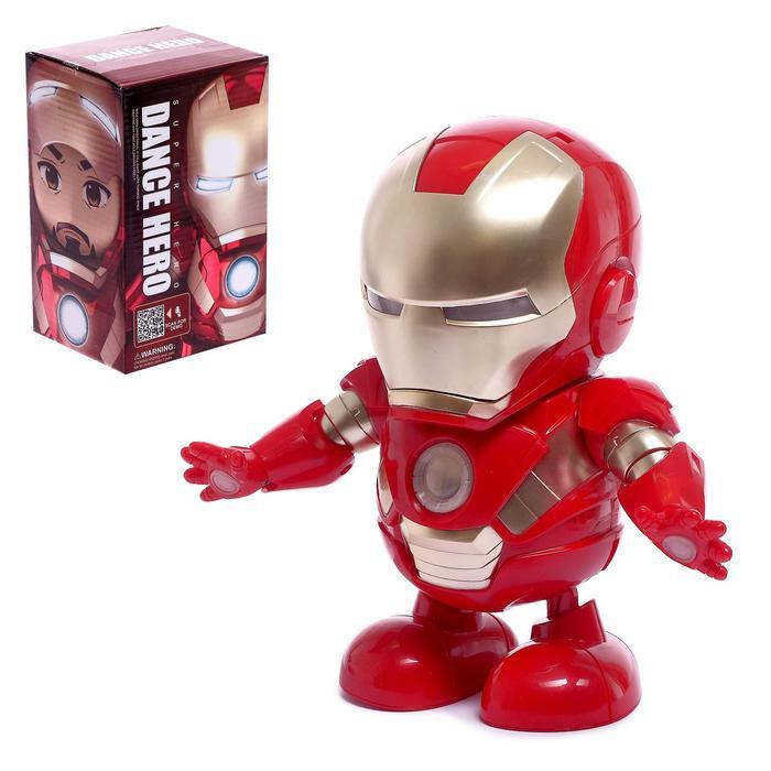 Робот «Танцующий Герой», световые и звуковые эффекты, работает от батареек