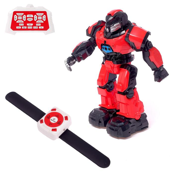 Робот интерактивный радиоуправляемый «Плуто», световые и звуковые эффекты, цвет красный