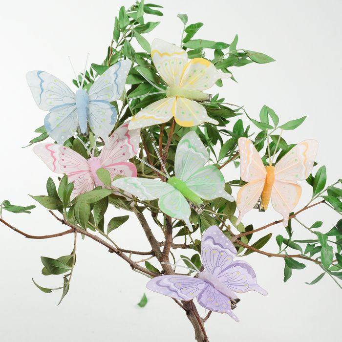 Декор на прищепке бабочка в ассортименте