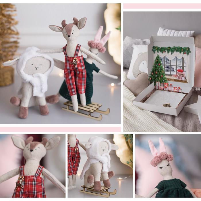 Мягкие игрушки, набор для шитья, 30 × 5 × 30 см