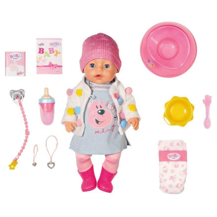 Кукла интерактивная Бэби Борн «Стильная весна» с аксессуарами, 43 см