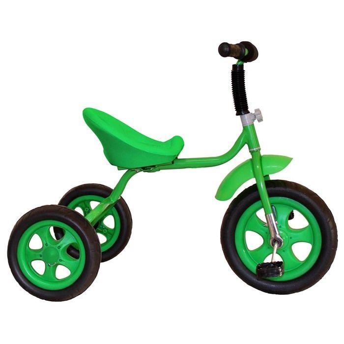 """Велосипед трехколесный Лучик Малют 4, колеса EVA 10""""/8"""", цвет зеленый"""