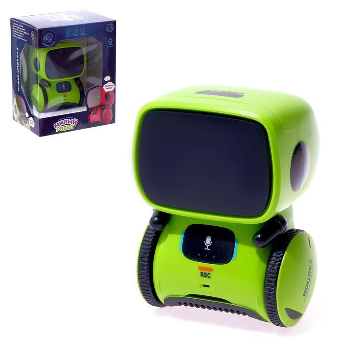 """Робот интерактивный """"Милый робот"""", световые и звуковые эффекты, в ассортименте"""