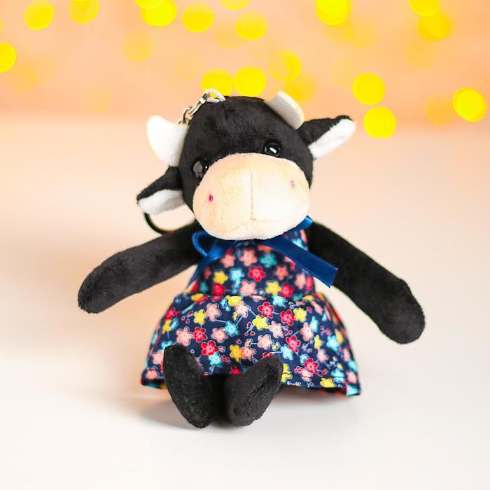 Мягкая игрушка «Коровка в платье», на брелоке, цвета в ассортименте