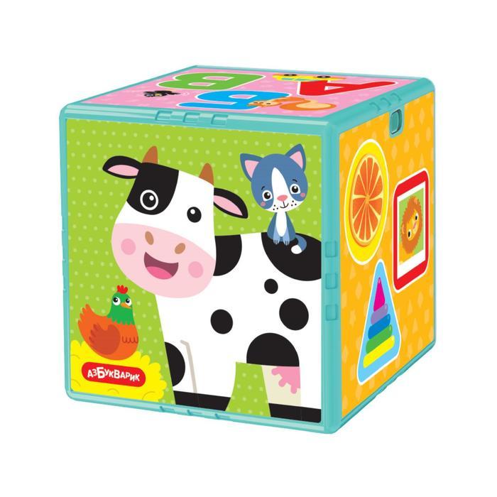 Развивающая игрушка говорящий кубик «Первые знания», 45 стихов и песен, Азбукварик